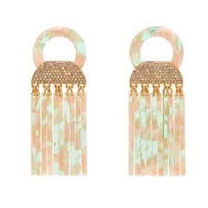 India Hicks Pink Camo Earrings